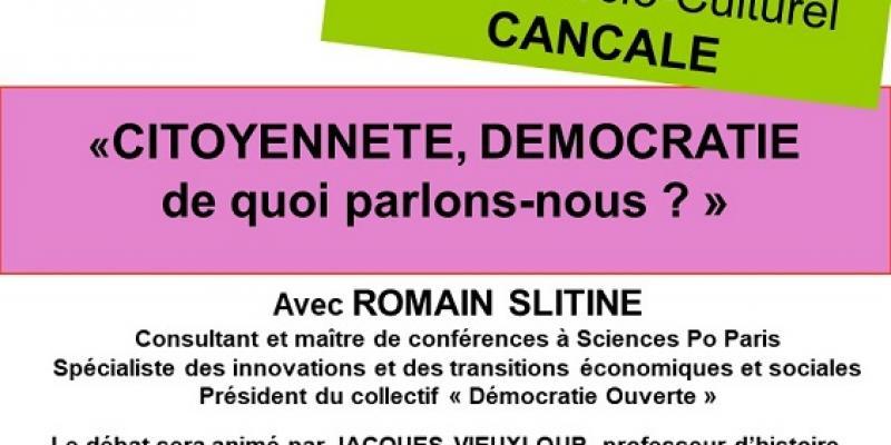Conférence débat Citoyenneté, démocratie, de quoi parlons nous ?