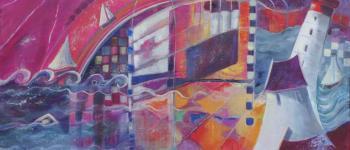 Exposition  paysages imaginaires, résonances intérieures  à l\Atelier-Galerie d\Emmanuelle Brett ST GILDAS DE RHUYS