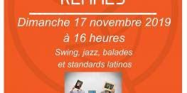 Swing, jazz, latino avec le trio rennais Singing in the Rennes Rennes