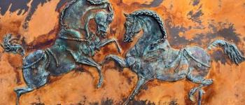 Exposition \Le cheval breton\ Guimiliau