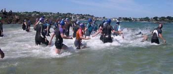 Traversée de la baie à la nage Locquirec
