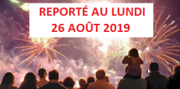 ATTENTION ! Feu d'artifice reporté au LUNDI 26 AOÛT 2019 Dinard