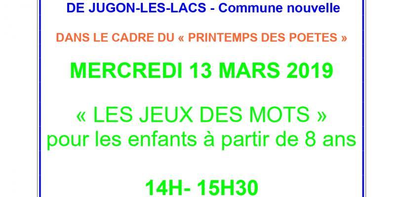 34ff59e8c6 Les jeux des mots Jugon-les-lacs - commune nouvelle - 13-03-2019 ...