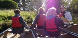 Visite guidée en canoë kayak au crépuscule Montfort-sur-Meu
