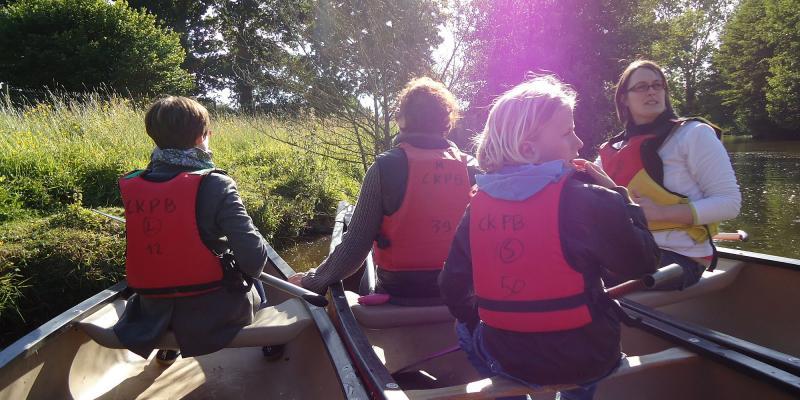 Visite guidée en canoë kayak au crépuscule