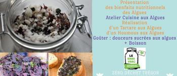 Cuisine aux algues bretonnes - Tartare et houmous aux algues Plouaret