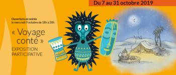Galerie d\expostion l\Invantrie - exposition participative \Voyage conté\ Montauban-de-Bretagne