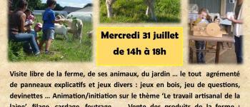 Visite de la ferme et animation \Je transforme la laine\ ! Pont-Melvez