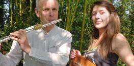 Duo NYGMA en concert(flûtes et harpe) ARRADON
