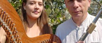 Duo NYGMA en concert(flûtes et harpe) La Guérinière(Ile de Noirmoutier)