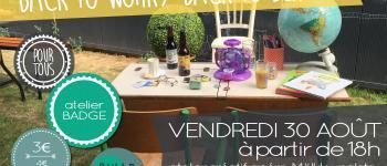 Association BULLE café familial soirée apéro et atelier créatif : badges Vitré