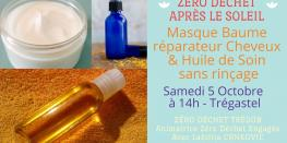 Masque Baume réparateur cheveux + Huile de Soin sans rinçage trégastel