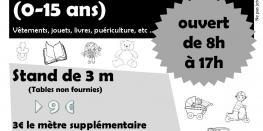 Vide-greniers dédié à l'enfance (0-15ans) LANNION